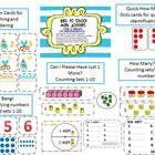 This fun Back to School Math Unit focuses on Common Core Kindergarten Standards $