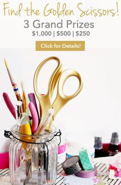 Forget Golden Tickets, I need to win a pair of Blitsy Golden Scissors and $1000 to spend on craft supplies! #blitsygoldenscissors
