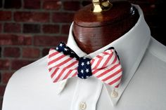 Stars and Stripes Reversible Bow Tie