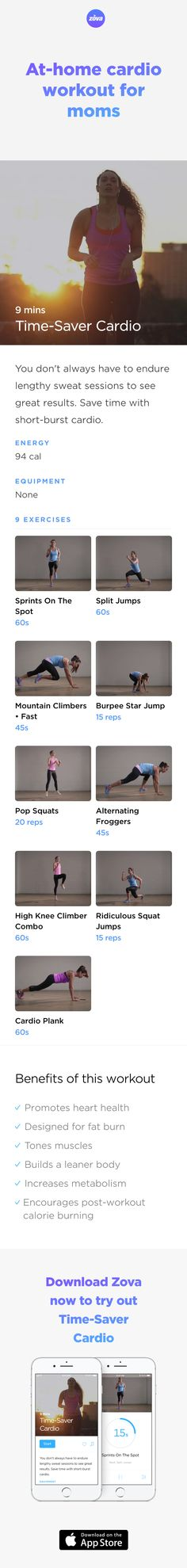 Short and effective - these are of our favourite words when it comes to a workout session and this workout is exactly that. In less than eight minutes, you'll boost your cardio, burn fat and tone muscle for a leaner, stronger-looking body. Plus, the exercises are designed for maximum post-workout calorie-burning workout! #weightloss #workout #fitness #HIIT #fullbody #sweat #bodyweight #calories #partner #couple