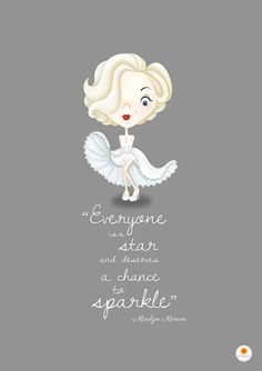 Marilyn Monroe Illustration Quote Poster illustrated by Smogawoo #art #print #marilyn #monroe #movie #icon