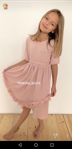 Cute Little Girls, Cute Kids, Anna Pavaga, Kristina Pimenova, Young Girl Fashion, Famous Girls, Russian Models, Girl Model, Cold Shoulder Dress