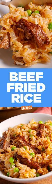 Beef Fried Rice tastes so much better when it doesn't come out of a paper box. Get the recipe from Delish.com.
