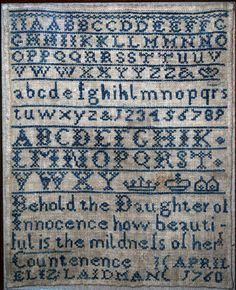 Old English Sampler.