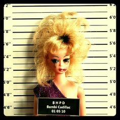 Barbie Gone Bad! Funny Mug Shots: Barbie. Bambi Cadillac Mug Shot by Art-I-Ficial - reminds me of my mum in the Barbie Funny, Bad Barbie, Barbie And Ken, Muse, Shot Hair Styles, Karen, Barbie Friends, Barbie World, Cultura Pop