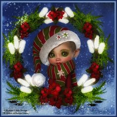 Eddas Träumereien – Tatoo for Noel Christmas Pictures, Christmas Art, All Things Christmas, Christmas Graphics, Pixie Tattoo, Bratz, Baby Fairy, Little Designs, Cute Little Girls