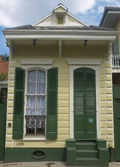 New Orleans door New Orleans Homes, New Orleans Louisiana, Shotgun House, Tiny House, Small Houses, Door Knockers, Garage Doors, Shed, Around The Worlds