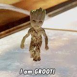 I Am Groot:  Baby Groot GIF.