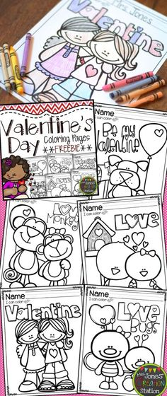 valentines day coloring pages freebie
