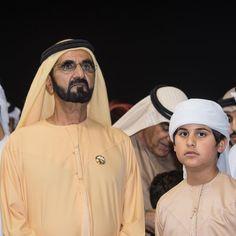 Mohammed bin Rashid bin Saeed Al Maktoum y su nieto, Mohammed bin Mansour bin Zayed Al Nhyan, 01/2018. Foto: d4s