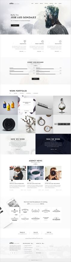 eMia is a professional #PSD #Template for creative #Agencies & Portfolio websites with 6 homepage layouts and 15 organized PSD pages download now➩ https://themeforest.net/item/emia-creative-agencies-portfolio-psd-template/17844530?ref=Datasata