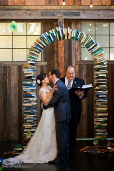 We love this book wedding arch