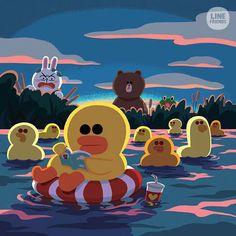 Chick or Duck ? The answer is. Duck Wallpaper, Lines Wallpaper, Wallpaper Iphone Cute, Cute Wallpapers, Cartoon Fan, Cute Cartoon, Duck Illustration, Comic Face, Duck Art