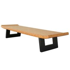 Paul Frankl for Johnson Furniture Cork Top Bench / Table ca1948.......  PF rocking the cork again SON !!!