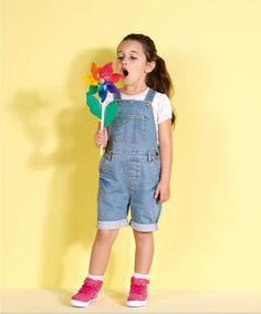 Girls Two Piece Dungaree and Striped T-Shirt Set - View All - Mamas & Papas