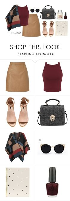 """Fall season"" by ericakslzr on Polyvore featuring Lipsy, Miss Selfridge, H&M, WearAll, Una-Home, Sugar Paper and OPI"