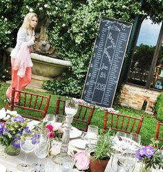 Here's a chalkboard for the long tables. So we would just set up 2 of these side by side?