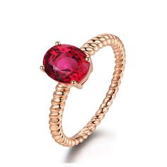 Stunning 1.37ct Natural Red Tourmaline in 18K Gold Ring by CHARMES Jewellery Check more at https://www.charmes.in/product/1-37ct-natural-red-tourmaline-in-18k-gold-ring/