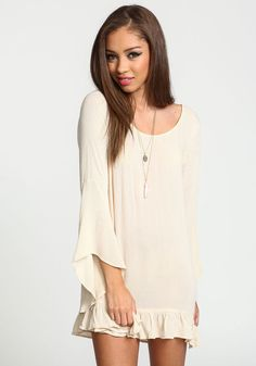 Sand Bell Ruffle Crepe Blouse - Love Culture
