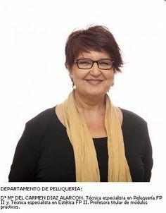 Mª del Carmen Díaz. Departamento de Peluquería