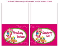 Strawberry Shortcake food labels