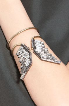 Lanvin Eagle Wing Crystal Bracelet