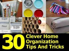 Foto: 30 Clever Home Organization Tips & Tricks   http://www.diyhomeworld.com/30-clever-home-organization-tips-and-tricks/