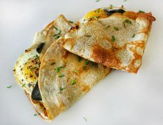 Buckwheat Crepes with Gruyere, Sage, and Sunny-Side-Up Egg