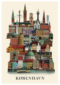 Københavnerplakat plakat - Køb online hos Permild & Rosengreen