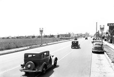 Cruising Whittier Boulevard in East LA -- circa (Her-Ex) Whittier Blvd, Camino Real, East Los Angeles, California History, Cool Bicycles, Old Pictures, Cemetery, Cruise, Coast