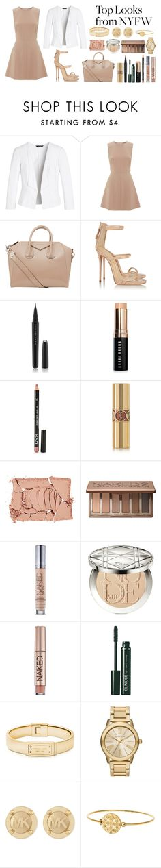 """""""NYFW"""" by kalxps-ia ❤ liked on Polyvore featuring White House Black Market, RED Valentino, Givenchy, Giuseppe Zanotti, Marc Jacobs, Bobbi Brown Cosmetics, NYX, Yves Saint Laurent, NARS Cosmetics and Urban Decay"""