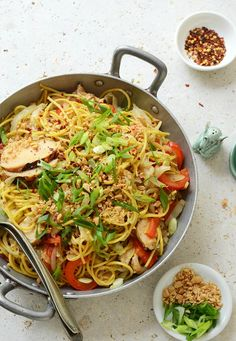 Thai Inspired Soy Sauce Noodles with Vegetables and Chicken