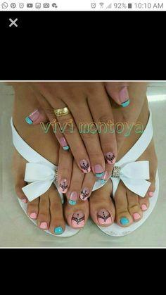 Pedicure Nail Art, Toe Nail Art, Mani Pedi, Toe Nails, Pretty Toes, Pretty Nails, Cute Pedicures, Nail Candy, Toe Nail Designs