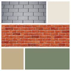 Brick houses orange brick houses and front door colors on - Paint colors that go with red ...