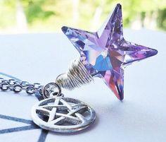 VITRAIL STAR  Swarovski Crystal Pendant by PurpleMoonGiftShop, $36.00