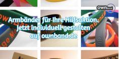 Helfen Sie mit tollen Charity-Armbändern! ownband.de #ownband #individuellesArmband #Charity #DIY