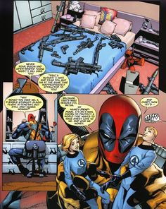 prestimion:    More Deadpool is always a good thing.    Note the Spiderman doll; I'd like to think they were packed with his guns.