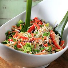 I love creating recipes, so thank you to House Foods for this delectable opportunity to make Asian Noodle Summertime Salad. Asian Recipes, Healthy Recipes, Ethnic Recipes, Rhubarb Dream Bars, Summertime Salads, Garlic Noodles, Asian Noodles, Tasty, Yummy Food