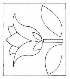 Tulips coloring page 13 - Coloring Pages Native Beading Patterns, Beadwork Designs, Embroidery Flowers Pattern, Native Beadwork, Applique Patterns, Flower Patterns, Applique Quilts, Applique Designs, Quilt Patterns