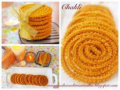 Chakli is very tasty and crunchy snacks usually made during festival seasons. It has very special place in Diwali Faral (Snacks). There are many ways to make Chakali. Diwali Snacks, Best Sweets, Spiral Shape, Red Chili Powder, Coriander Powder, Frying Oil, Big Bowl, Easy Meals, Tasty