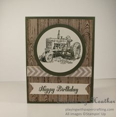 Playing with Papercrafting, Harvest Blessings masculine birthday card, Hardwood, Stampin' Up!