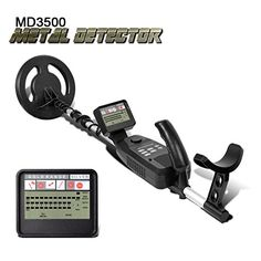 SHUOGOU Metal Detector MD-3500 Gold Finders Treasure Hunter LCD Display Waterproof Search Coil with Folding Shovel