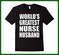 Mens World's Greatest Nurse Husband - Gift Shirt For Husband 3XL Black - Careers professions shirts (*Amazon Partner-Link)