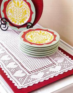 Filet Corredores de Mesa - Maggie's Crochet