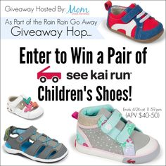 Welcome to the Rain Rain Go Away Blog Hop with your chance to win a pair of children's shoes from See Kai Run! This great giveaway is sponsored by See Kai Run and hosted by Mom Does Reviews. Read the giveaway details below. Mom Does Reviews...