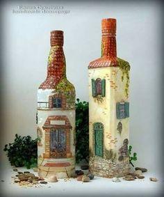 garrafas decoradas e recicladas - Pesquisa Google