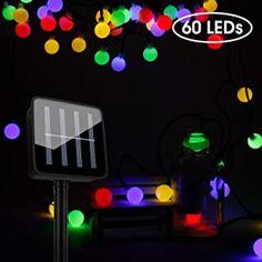 Romanda Solar Lichterkette Außen LED Lichterketten für Draußen Innenräume mit Kristall Kugeln Beleuchtung 10M 60 LEDs 8 Modi IP65 Wasserdicht für Balkon GartenTerrasseBäumeHof Hochzeiten Party - 15.98 - 5.0 von 5 Sternen - Lichterkette Herbst 2019