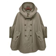 uk availability 20504 2412a Trench Cape Coat Green Parkas, Retro Mode, Gulliga Kläder, Strumpor,  Kostymdesign,