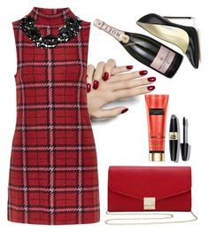 """""""still in red mood"""" by hazelnudd on Polyvore featuring Topshop, Brian Atwood, M&Co and Max Factor"""