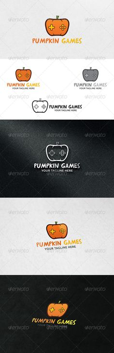 Pumpkin Games  Logo Template — Vector EPS #application #farm • Available here → https://graphicriver.net/item/pumpkin-games-logo-template/6905633?ref=pxcr